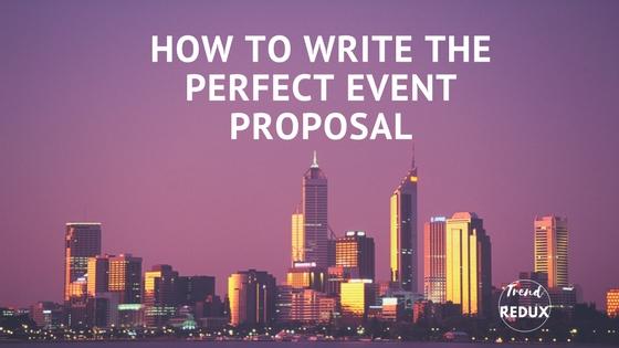 Event Proposals, Making Event Plans, Planning Events
